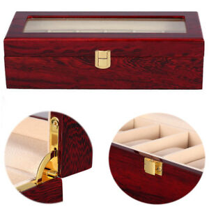 6-Grid-Slot-Watch-Box-Display-Case-Jewelry-Collection-Storage-Organizer-DCUK
