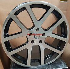 24 SRT10 Viper Style Rims Black Machined Wheels Tires Fit Dodge Durango RAM 1500