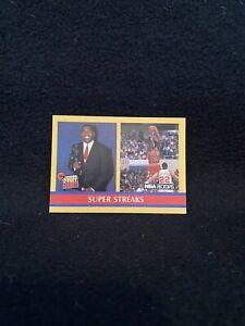 1990-91 NBA Hoops Jordan & Magic Super Streaks Basketball Card #385 MT