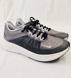 333a3745ec9 Nike Zoom Fly SP Black Light Bone White Grey Running AJ9282-001 Size ...
