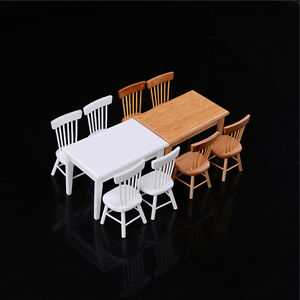 1-12-Wooden-Kitchen-Dining-Table-With-4-Chairs-Set-Dollhouse-Furniture-SE