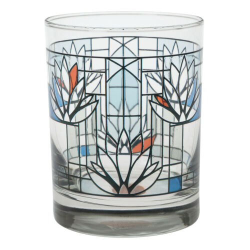 Frank Lloyd Wright Waterlilies Glass Tumblers Set of 2 Collectible Cups