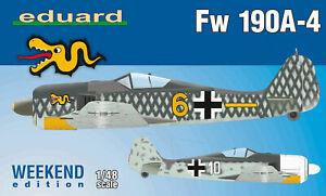 Eduard-Plastic-Kits-84121-1-48-Fw-190A-4-Weekend-Edition-New