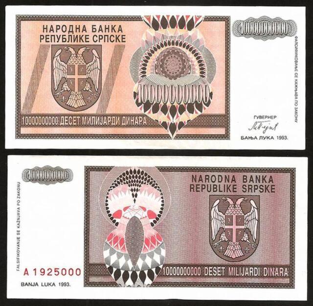 BOSNIA HERZEGOVINA 10 Milliard Dinara 1993 - UNC - Pick 148