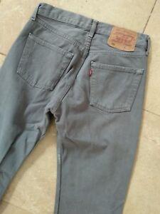 Levi-Strauss-501-jeans-gris-36-EU-18-99-preciosos-w29-USA-1-L