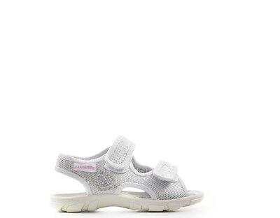 Modesto Scarpe Canguro Bambini Sandali Bassi Bianco Tessuto C56142-122s Per Cancellare Il Fastidio E Per Estinguere La Sete
