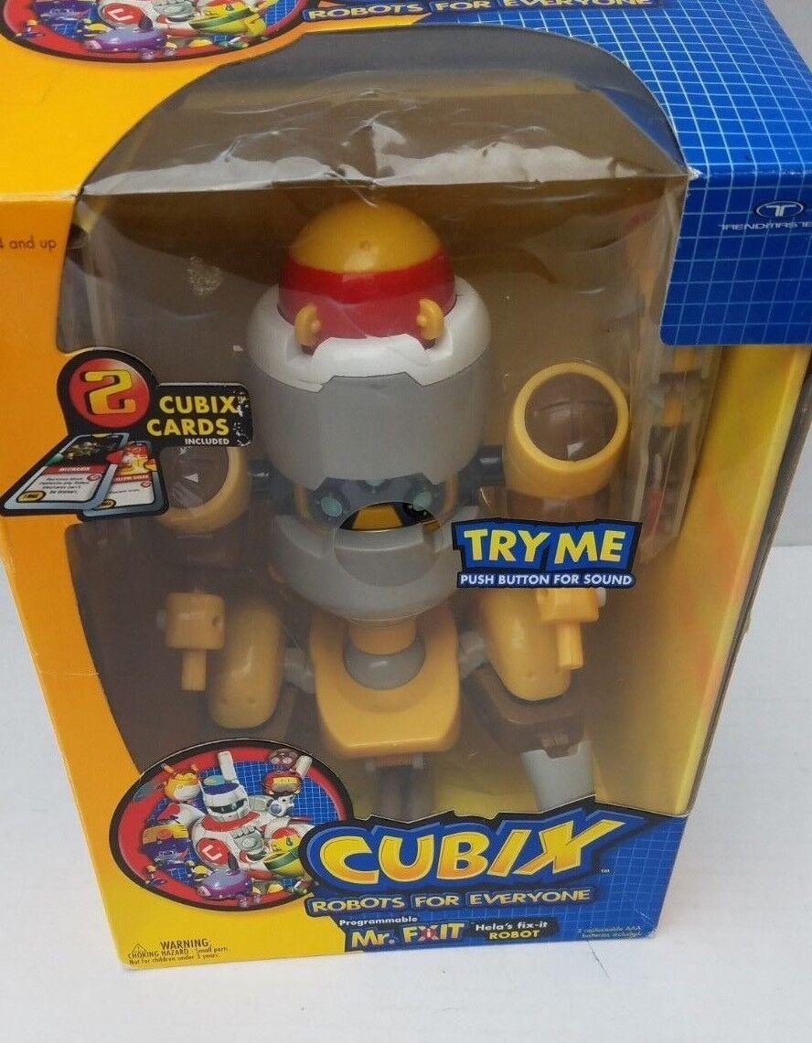 New CUBIX Mr. Robot Fix It  2 Cards Robo Corp Movable Blast Shield Bots Kids WB