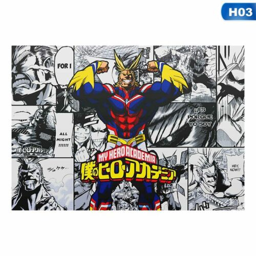 Japanese Anime My Hero Academia Poster Home Decoration Wall Poster Painting US