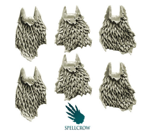 SPELLCROW Furry / Wolves Cloaks BITS BITZ 28mm COMPATIBLE SPACE KNIGHTS CAPE PDT