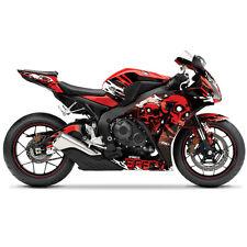 FX Skull Sport Bike Pre-Cut Graphics Wrap Kit for Honda CBR250 11-14 Red