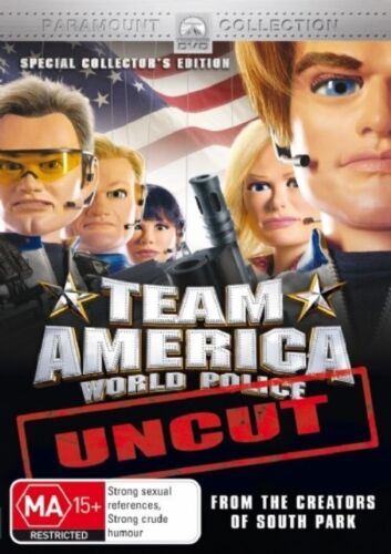 1 of 1 - Team America : World Police (2004) Uncut - NEW DVD - Region 4