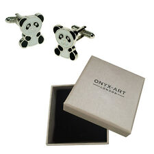 Mens Chinese Panda Animal Cufflinks & Gift Box By Onyx Art