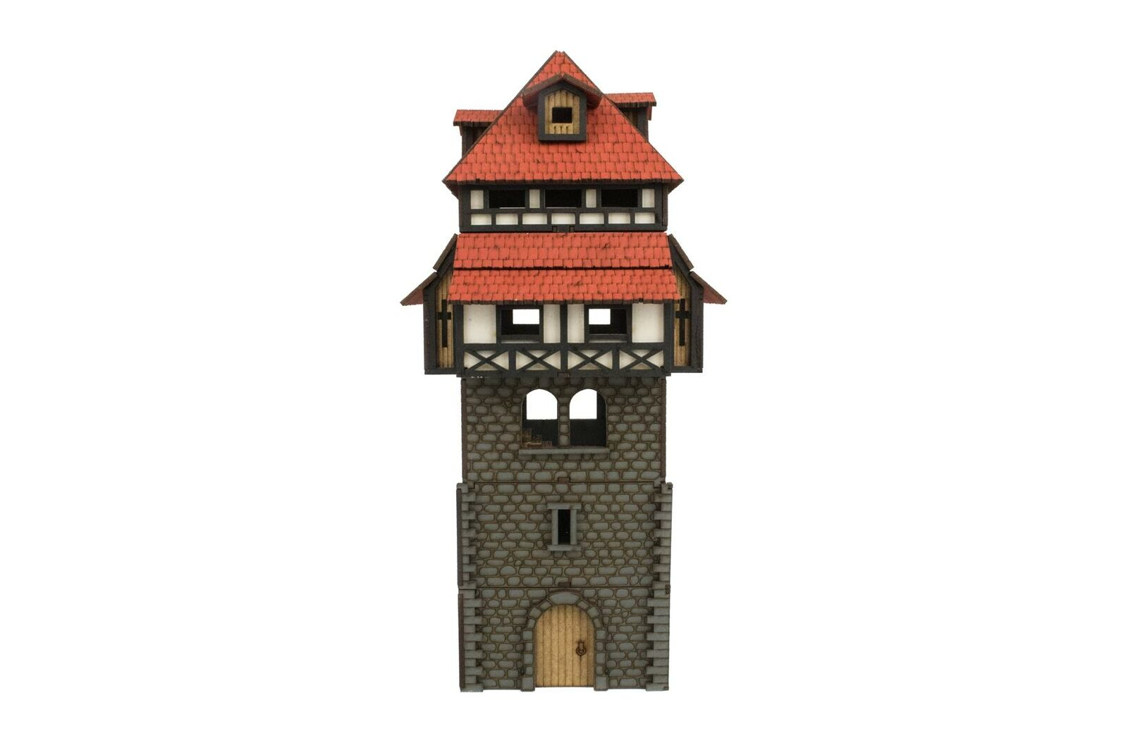 WWG Medieval Town Guard Tower (Painted Unpainted) – 28mm Fantasy Wargame Terrain