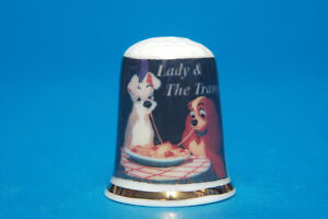 Disney-034-Lady-and-the-Tramp-034-China-Thimble-B-94