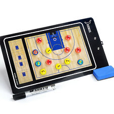Magnetic Basketball Coaching Dry Erase Clipboard Tactical PVC Board + Marker Pen
