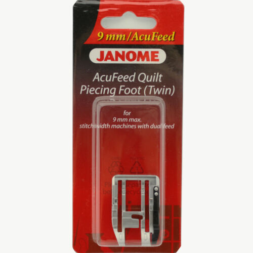 Twin For #202125004 9mm max with Dual Feed Janome AcuFeed Quilt Piecing Foot