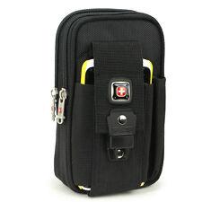 XXXL Men's cool Fanny Pack durable Black waist bag case fit cellphone 6.3 inch