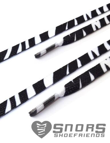 SNORS shoefriends Flachsenkel bedruckt SNORS Schnürsenkel Zebra weiss
