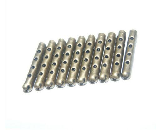 50x Endstück Metall für Kordel Schnüre Kordelstopper Kordelenden 4x23mm Handwerk