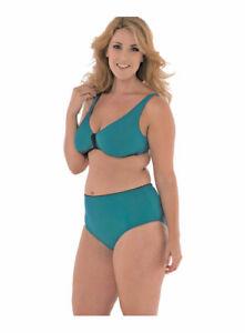 Costume Donna Bikini,coppe Removibili,taglie Grandi,slip Vita Alta.costa Azzurra Style à La Mode;