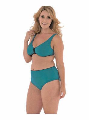 Liberale Costume Donna Bikini,coppe Removibili,taglie Grandi,slip Vita Alta.costa Azzurra Reputazione In Primo Luogo