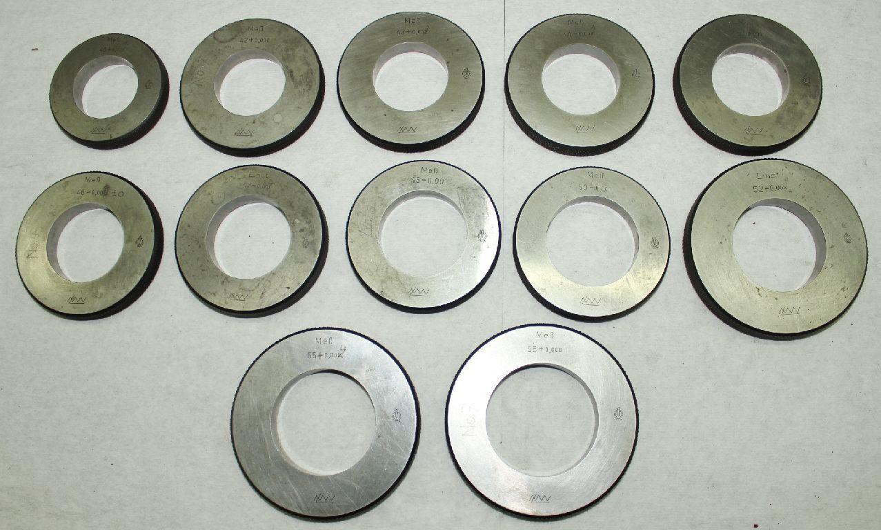 12x Einstellring Einstellring Einstellring Lehrring Prüfring - LMW - Ø 40 mm bis 58 mm | Viele Sorten  | Verschiedene  | Qualität Produkte  480874
