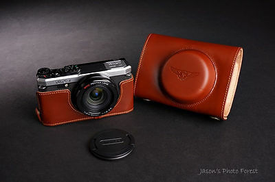 Genuine real Leather Full Camera Case bag cover for  Pentax MX-1 MX1 Bottom Open