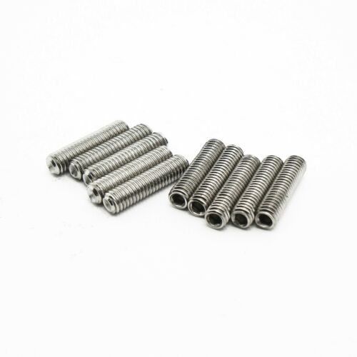 Set Screws Cup Point Grub 10 QTY A2 18-8 Stainless Steel M3 x 12mm