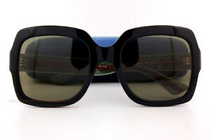 727e62a947a Brand New GUCCI Sunglasses GG 0036 S 002 Black Green For Women