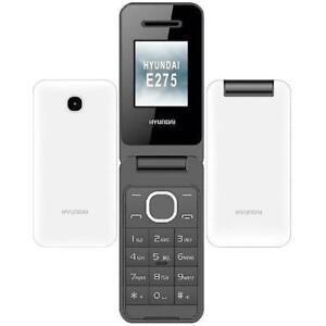 Hyundai-E275-White-Factory-GSM-Unlocked-AT-amp-T-T-Mobile-Dual-Sim-Flip-Phone