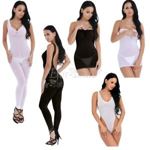Women-039-s-Lingerie-Mesh-Dress-Lady-Babydoll-Underwear-Nightwear-Sleepwear-Bodysuit