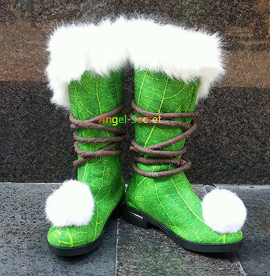 TK10 Tinkerbell boots furry shoes for travelling costume shoes tailor made
