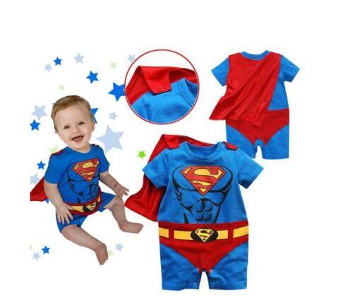 Baby Kleinkind Kostüm-party Langärmlig Superman Kostüm Größe 0-24 Monate