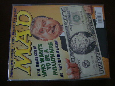Mad Magazine #392 NICE Who Wants To Be A Millionaire   eBay