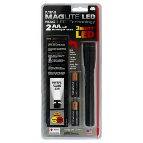Black Mini Maglite LED Flashlights