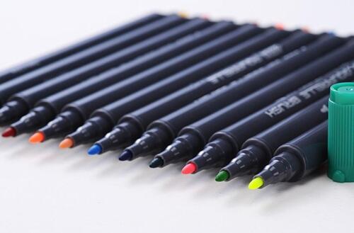 Cepillo De La Acuarela plumas Dual de 12 Colores Suave//Fina Dibujo//marcadores de arte de la pintura consejos