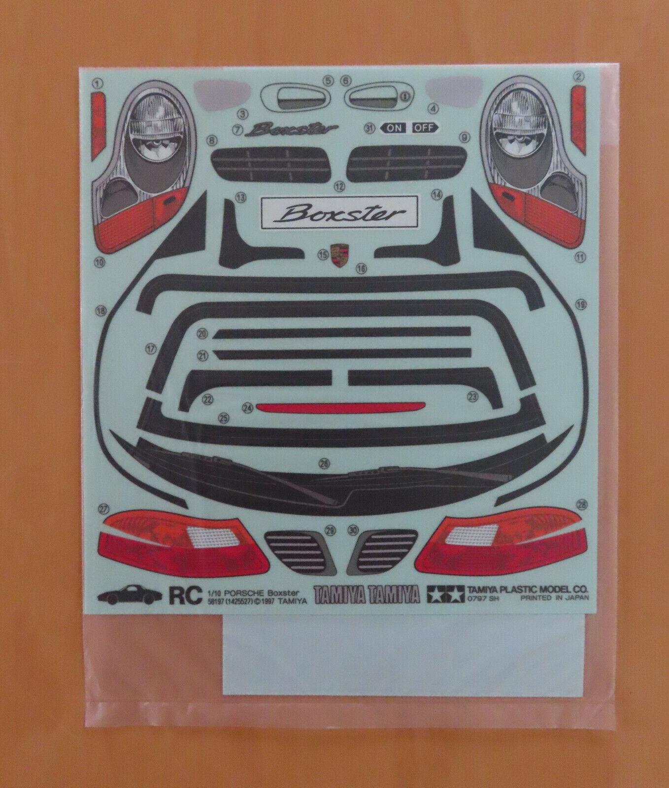 RC Tamiya Decal 58197 Porsche Boxter 1997 NEU NIB