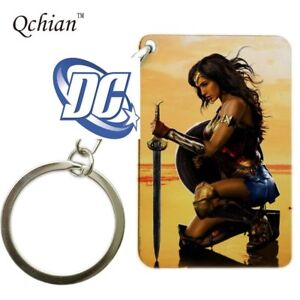 DC-Comics-Movie-Wonder-Woman-Square-comic-book-style-Key-chain-cosplay