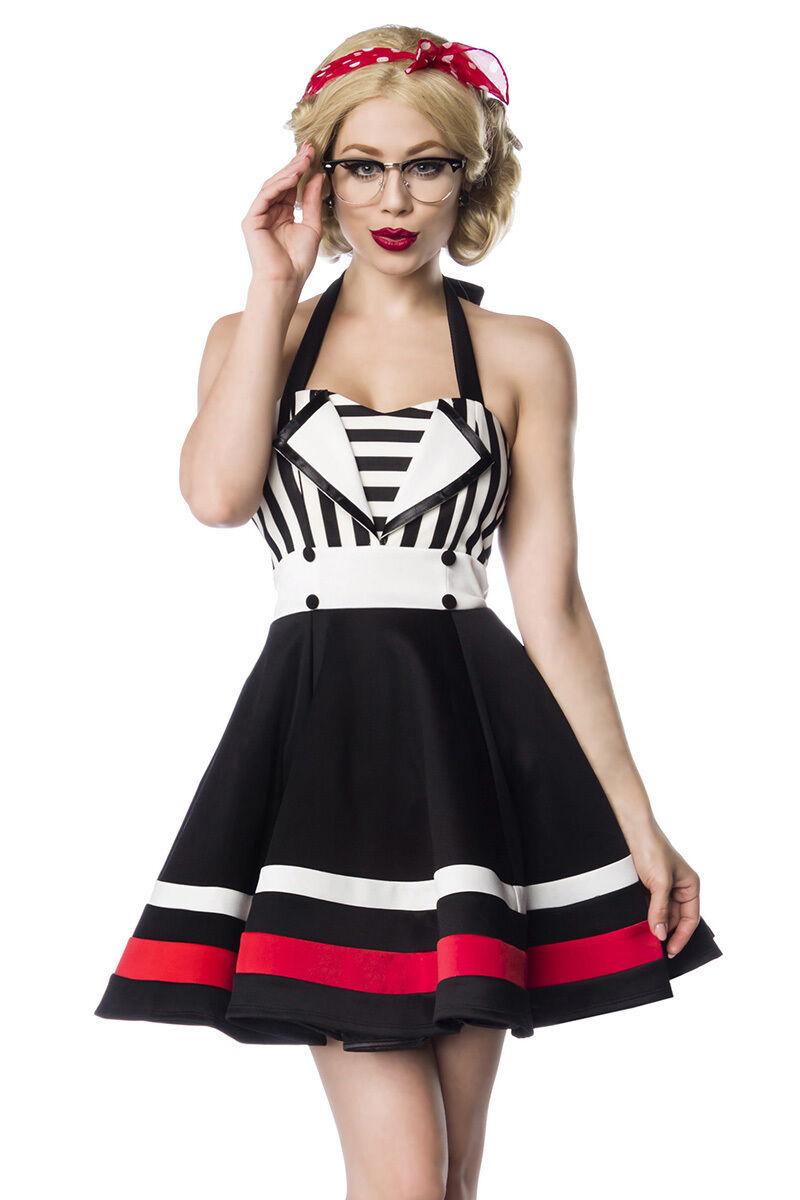 SEXY abito PIN UP retro taglia S,M,L,XL,2XL (40,42,44,46,48) schwarz bianco GLAMOUR