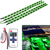 Boat And Car Wireless Remote Control Motorcycle Green Led Light Strip Kit Dc 12v