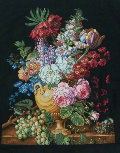 LARGE LUXURY New Completed finished cross stitch needlepoint
