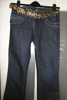 River Island Sexy Boot Jeans Size 10 L EUR 36 33 Leg Dark Blue With Belt
