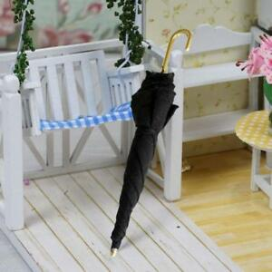 Mini-Black-Umbrella-For-1-12-Miniature-Dollhouse-Room-Decoration-House-Supply