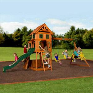 Backyard Discovery Atlantic Wooden Swing Set (3-12 Years ...