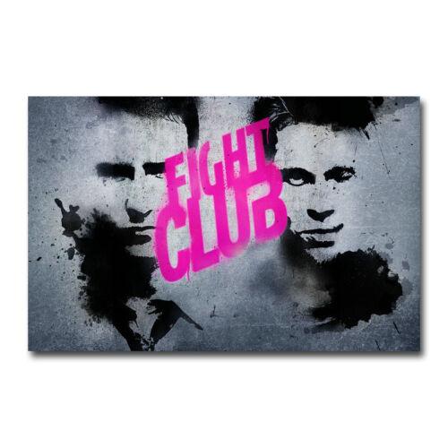 Fight Club Brad Pitt Classic Movie Art Silk Canvas Poster 13x20 inch