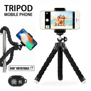 Mini-Mobile-Phone-Holder-Universal-Tripod-Stand-Grip-Selfie-amp-1-Remote-Control-CA