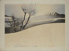 La colline au village : Lithographie signée Daniel SCIORA