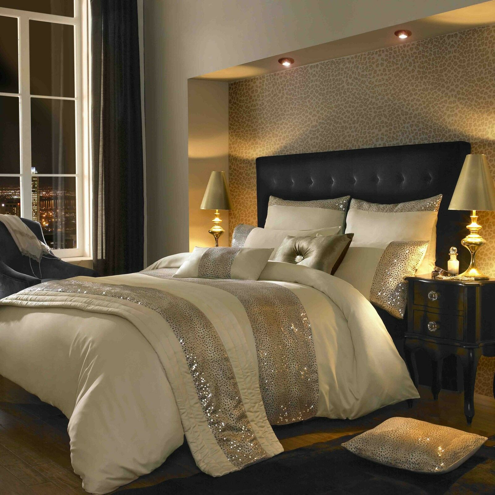 Leopard Ivory Bedlinen by Kylie Minogue At Home... Lowest Price + Free&Fast Del