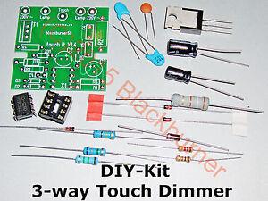 3 wege touch dimmer 230v bausatz diy kit mit ohne geh use neu 3 way touch it. Black Bedroom Furniture Sets. Home Design Ideas