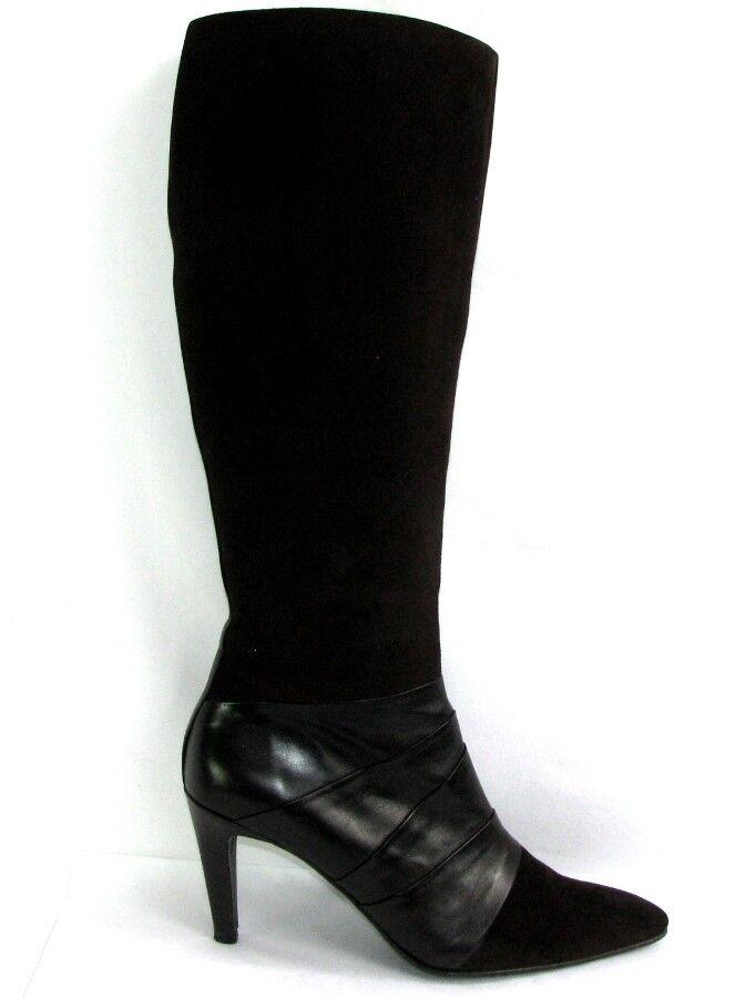 FREE LANCE Stiefel Absätze 9 9 9 cm Leder velours & glatt braun 40 5c12b0